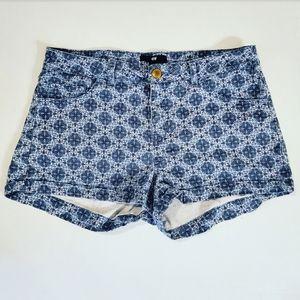 H&M Blue Shamrock Print Shorts Sz:6